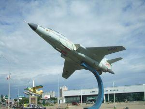 CF-101 Voodoo, Noorduyn Norseman and Boeing Bomarc on display in front of the museum