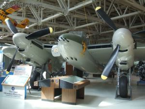 Restored DeHavilland Mosquito bomber.