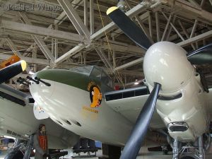 Nose art on Alberta Aviation Museum Mosquito.