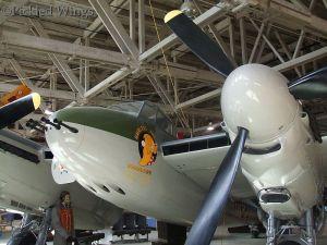 Nose art on Alberta Aviation Museum Mosquito.