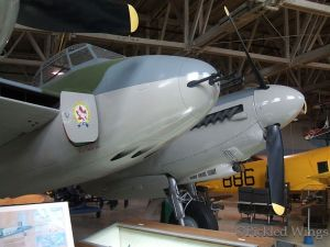Eight gun nose armament of the Mosquito fighter variant.