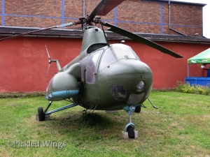 Mi-1M with medevac pod fitted on display at Kbely Air Museum in Prague, 2014