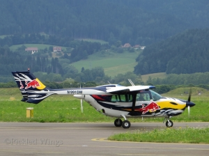 The 0-2's civil counterpart, the Cessna C 337 Skymaster at Zeltweg, Austria in 2013.
