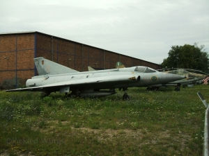 A former Swedish air force J-35J at the Kbely Air Museum in Prague in 2007