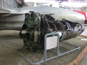 A cutaway Ghost engine at the Zeltweg Air Museum in 2013.