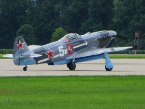 A Yak-3M at Pardubice in 2014.
