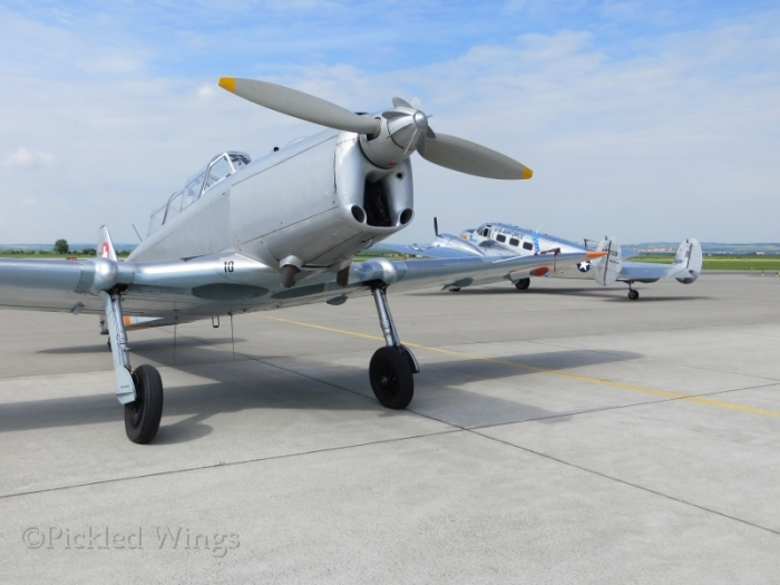 A Pilatus P.2 and Beach C-45 also in the vintage section.