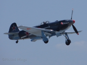 A Yak-3M takes off at Pardubice, Czech Republic in 2015