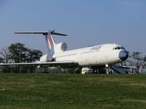 The mighty Tupolev Tu-154, the largest aircraft in the  Aeropark collection.
