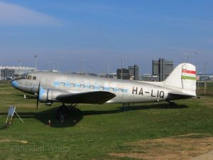 A Lisunov Li-2; the first airliner used by the Hungarian state airline when it was established in 1946.